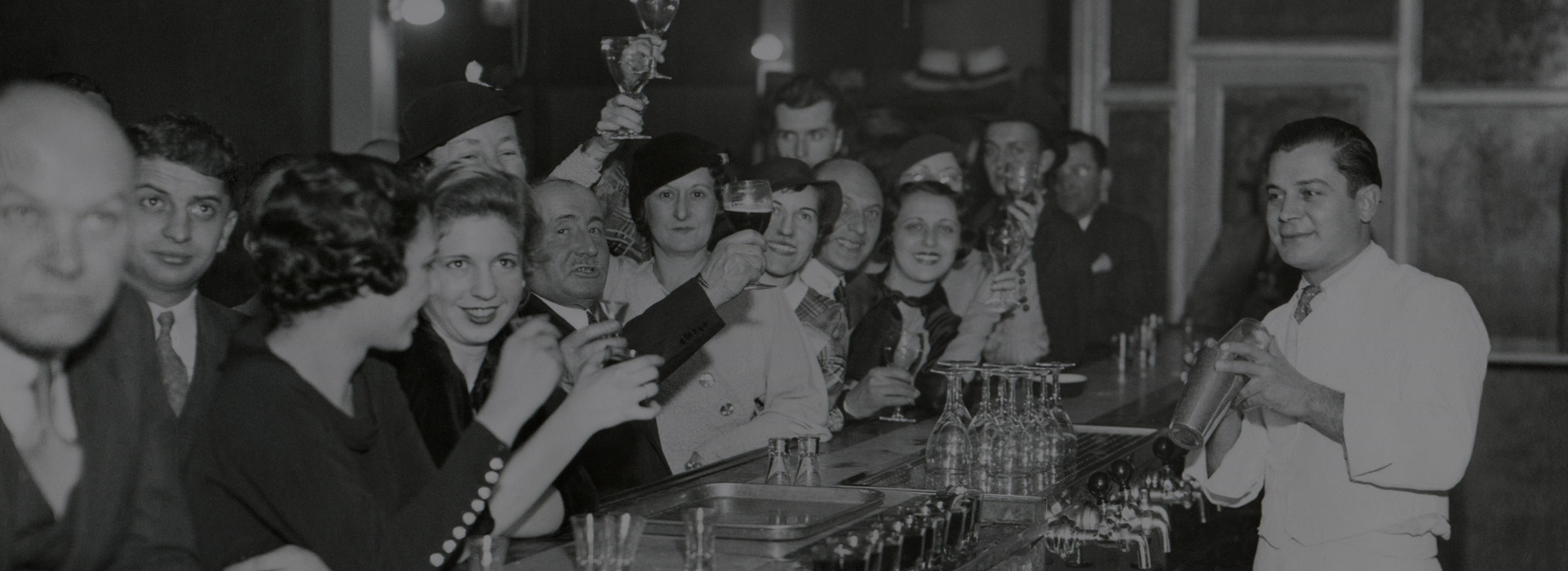 Good Times: Customers at a Philadelphia bar after Prohibition's end, Dec. 1933.